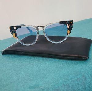 Fendi Blue Cat Eye Sunglasses
